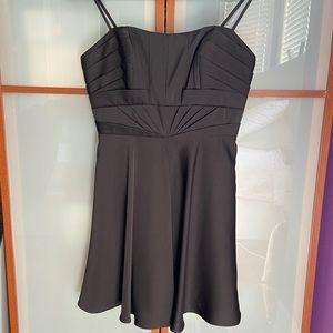 Marciano Black Satin Cocktail Dress